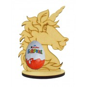6mm Unicorn Kinder Egg Holder on a Oval Stand