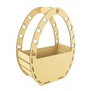 Laser Cut Plain Easter Egg Shape Basket