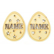 Laser Cut Personalised Easter Egg Bauble - Hearts or Stars