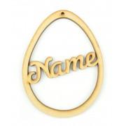 Laser Cut Personalised Easter Egg Frame Bauble