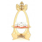 Laser Cut Extra Large 3D Easter Egg Display Stand to Hold Kinder Eggs & Creme Eggs