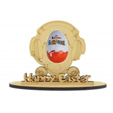 6mm Gaming Head Shape Kinder Egg Holder on a Stand - Stand Options