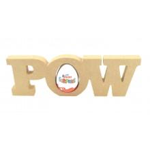 18mm Freestanding 'POW' Comic Book Superhero Word KINDER EGG Holder