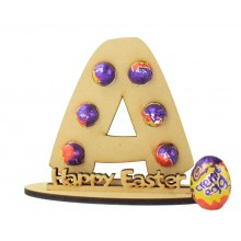 6mm Personalised Easter Letter Mini Creme Egg Holder on a Stand - Stand Options