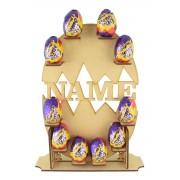 Laser Cut Personalised Cadbury Creme Egg Easter Display Stand