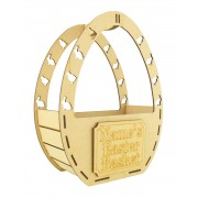 Laser Cut Personalised Easter Egg Shape Basket