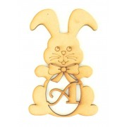 Laser Cut Personalised Easter Rabbit with Initial