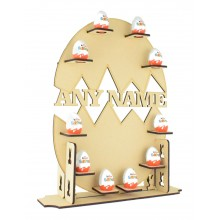Laser Cut Extra Large Personalised Kinder Egg Easter Display Stand - 6mm