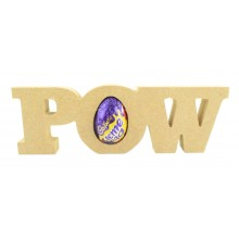 18mm Freestanding 'POW' Comic Book Superhero Word CREME EGG Holder