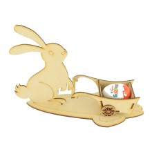 Laser Cut Easter bunny on a stand with 3D Chocolate Cart