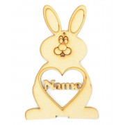 Laser Cut Personalised Easter Rabbit