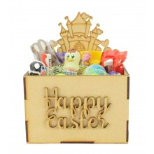 Laser Cut Easter Hamper Treat Boxes - Princess Castle Shape