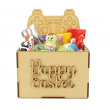 Laser Cut Easter Hamper Treat Boxes - Playstation Controller Shape