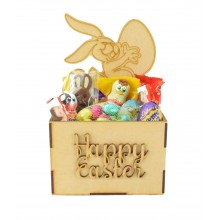 Laser Cut Easter Hamper Treat Boxes - Easter Rabbit with Egg Shape