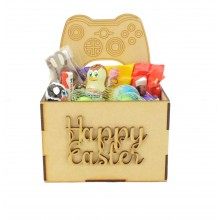 Laser Cut Easter Hamper Treat Boxes - X-Box Controller Shape