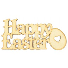 Laser Cut 'Happy Easter' Sign with a Easter Egg