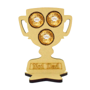 6mm No1 Dad Trophy Ferrero Rocher Holder on a Star Stand