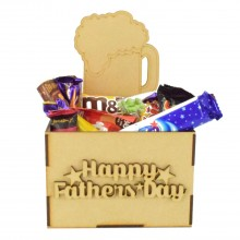 Laser Cut Fathers Day Hamper Treat Boxes - Beer
