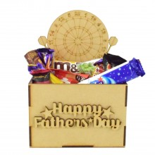 Laser Cut Fathers Day Hamper Treat Boxes - Darts