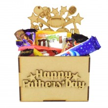 Laser Cut Fathers Day Hamper Treat Boxes - Sports
