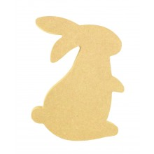 18mm Freestanding MDF Easter Rabbit Shape (Design 1)