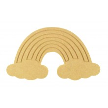 18mm Freestanding MDF Engraved Rainbow Shape
