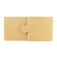 18mm Freestanding MDF Pair of Blocks with Interlinking Heart