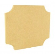 18mm Freestanding MDF Curved Corner Plaque - Size Options