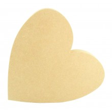 18mm Freestanding MDF Heart Shape