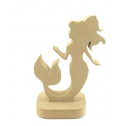 18mm Freestanding MDF Mermaid Shape in a Stand