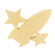 18mm Freestanding MDF Rocket with Stars Shape