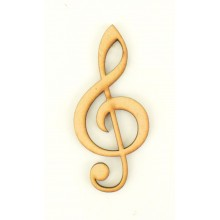 Laser Cut Music Note - Treble Clef Shape