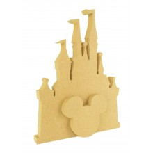 18mm Freestanding MDF Castle with Interlinking Mouse Head Shape