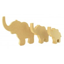18mm Freestanding MDF Cute Elephant Shape