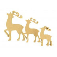 18mm Freestanding MDF Fancy Reindeer Shape