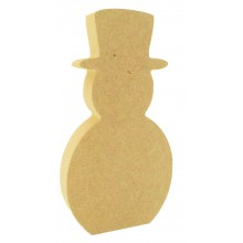 18mm Freestanding MDF Basic Christmas Snowman Shape