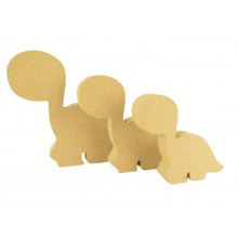 18mm Freestanding MDF Cute Dinosaur Shape