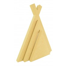 18mm Freestanding MDF Stacking Teepee Shape