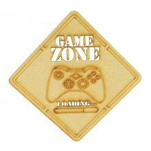 Laser Cut 'Game Zone Loading...' X-Box Controller Sign
