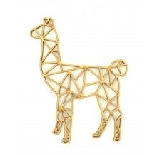 Laser Cut Llama Geometric Wall Art - Size Options - Plaque Options