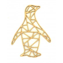 Laser Cut Penguin Geometric Wall Art - Size Options - Plaque Options