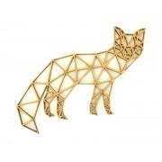 Laser Cut Fox Geometric Wall Art - Size Options - Plaque Options