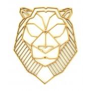 Laser Cut Lion (Design 2) Geometric Wall Art - Size Options - Plaque Options