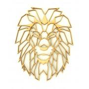 Laser Cut Lion (Design 1) Geometric Wall Art - Size Options - Plaque Options