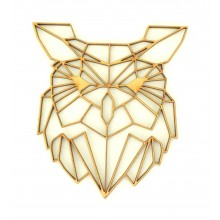 Laser Cut Owl Geometric Wall Art - Size Options - Plaque Options