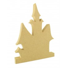 18mm Freestanding MDF Halloween Haunted House Shape