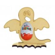 6mm Ghost Kinder Egg Holder on a Bat Shape Stand