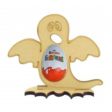 6mm Ghost Kinder Egg Holder on a Bat Shape Stand