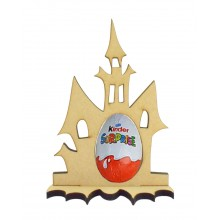 6mm Haunted House Kinder Egg Holder on a Bat Shape Stand