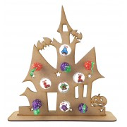 3mm Haunted House Lolly Pop Holder on a Stand